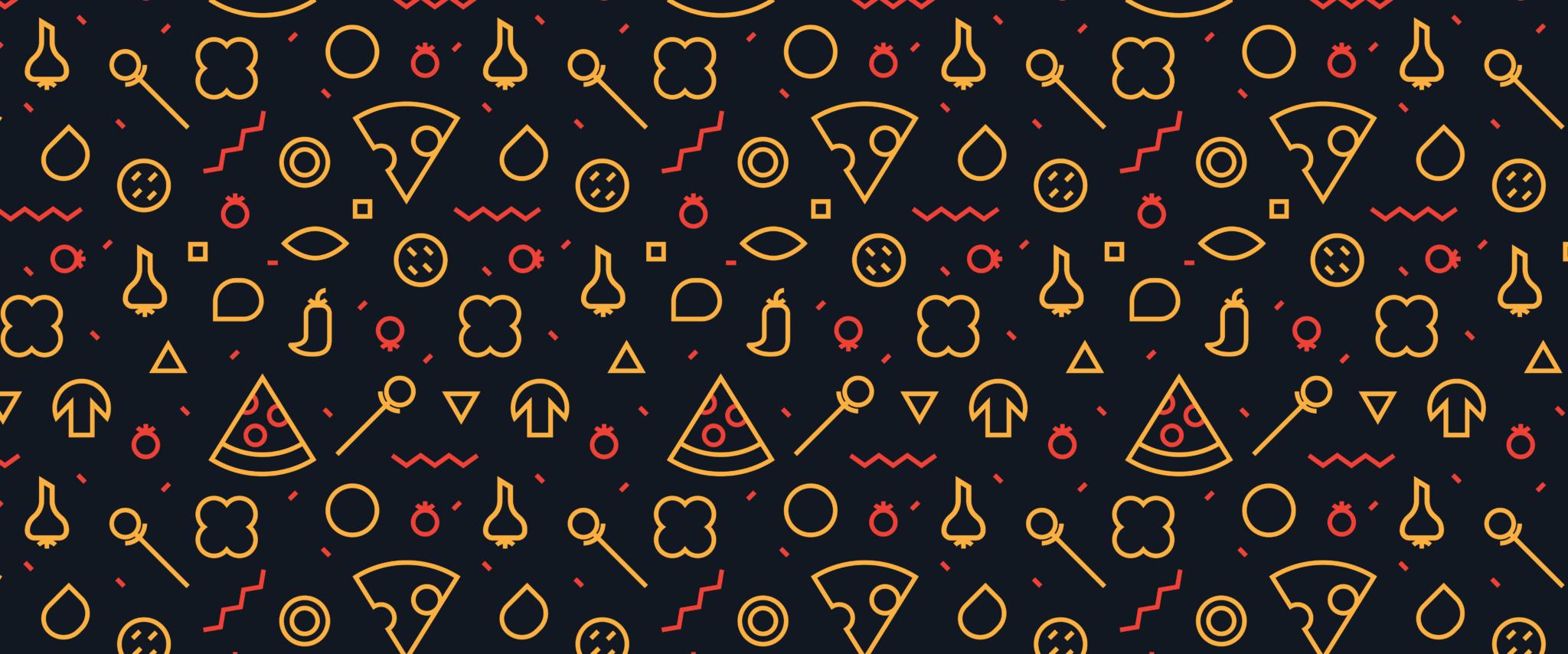 wordpress theme versus custom website blog header pizza print