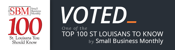 100 St. Louisans You Should Know award logo