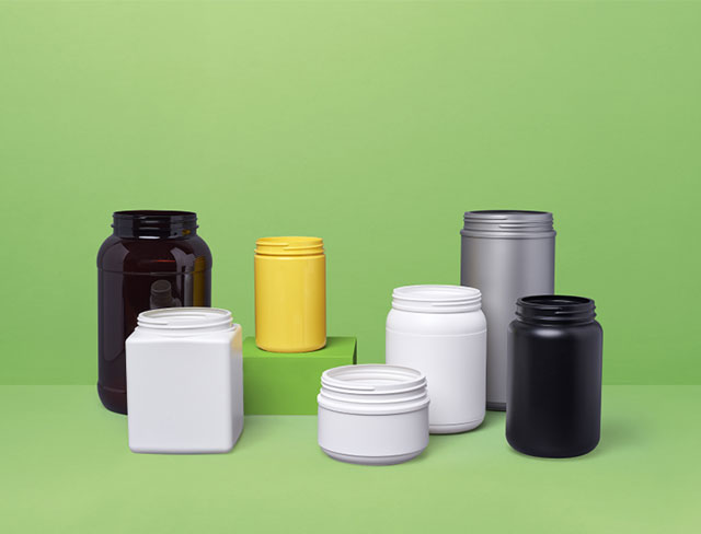 Collection of nutrition bottles