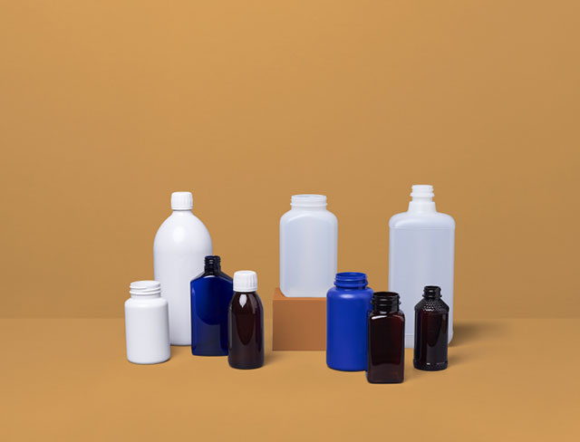 Collection of pharmaceutical bottles