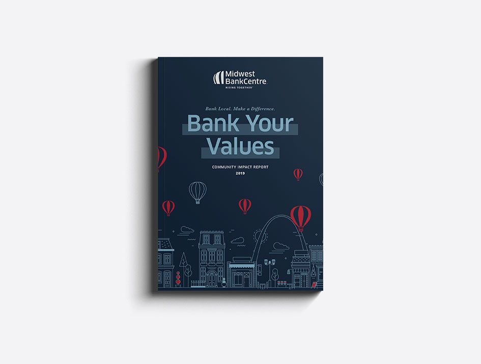 Book cover of Midwest BankCentre's annual report
