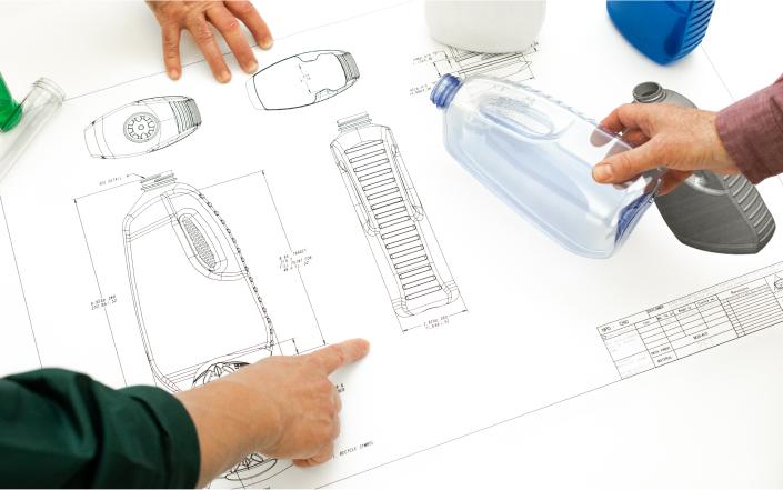Drawings of bottle designs