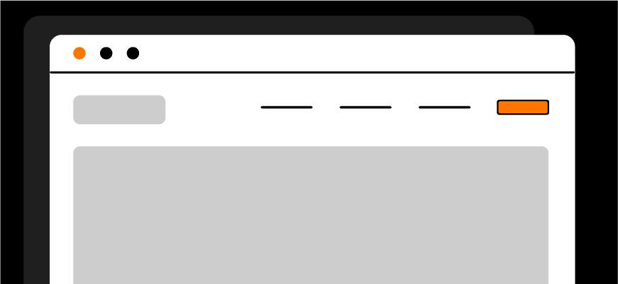 browser with user-friendly website navigation