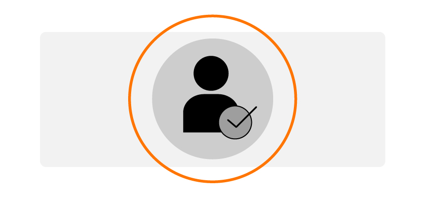 silhouette of person with checkmark signifying importance of target customer consideration when creating branded content